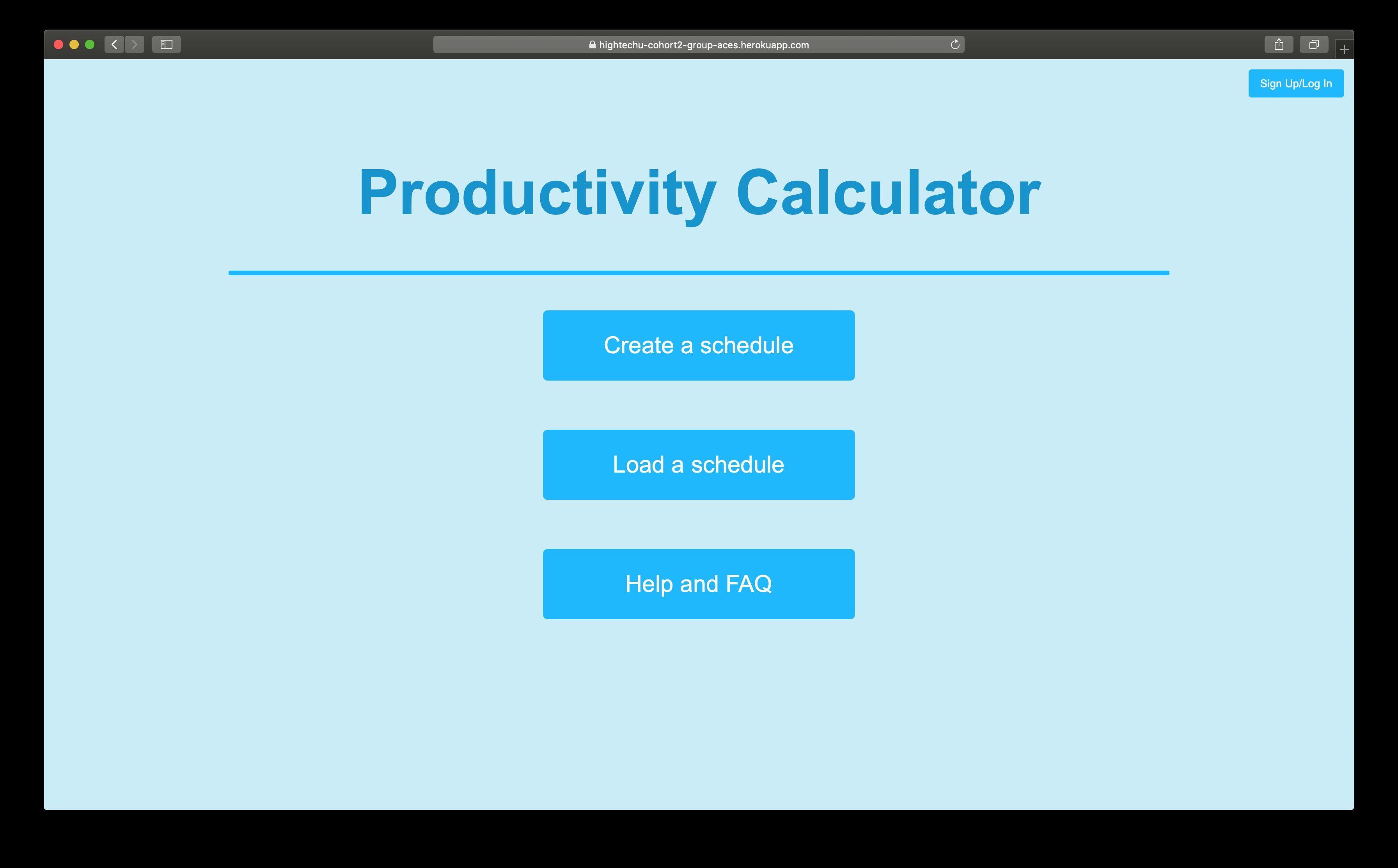 hightechu-academy-productivitycalculator